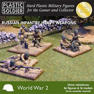 Plastic Soldier  15mm 15mm WWII Russian Infantry (56) w/Heavy Weapons PSO1514
