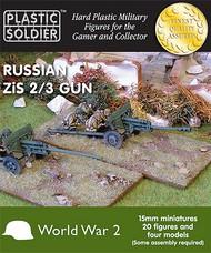 Plastic Soldier  15mm 15mm WWII Russian Zis 2/3 Gun (4) & Crew (20) PSO1519