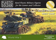 Plastic Soldier  15mm 15mm WWII Allied Stuart M5A1 Tank (5) PSO1525