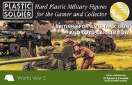 Plastic Soldier  15mm 15mm WWII British 6-Pdr Anti-Tank Gun & Loyd Carrier Tow (4ea) w/Crew (32) PSO1533