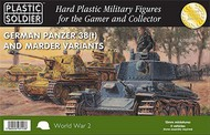 Plastic Soldier  15mm 15mm WWII German Panzer 38(t) Tank/Marder Variants (5) & Crew (45) PSO1535