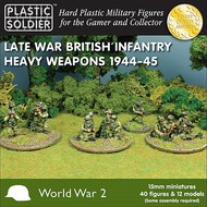 Plastic Soldier  15mm 15mm Late WWII British Infantry (40) w/Heavy Weapons PSO1536