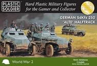 Plastic Soldier  15mm 15mm WWII German Sd.Kfz 250 Alte Halftrack (5) & Crew (40) PSO1539
