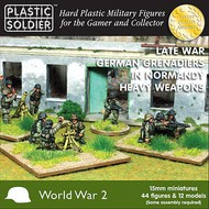 Plastic Soldier  15mm 15mm Late WWII German Grenadiers (44) w/Heavy Weapons Normandy PSO1541