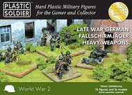 Plastic Soldier  15mm 15mm Late WWII German Fallschirmjager (76) w/Heavy Weapons PSO1542