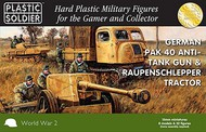 Plastic Soldier  15mm 15mm WWII German Pak40 Anti-Tank Gun & Raupenschlepper Tractor (4ea) w/Crew (32) PSO1545