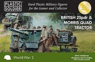 Plastic Soldier  15mm 15mm British 25-Pdr Gun & Morris Quad Tractor (4ea) w/Crew (48) PSO1548