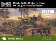 15mm WWII Sexton Mk II Self-Propelled (Early/Late) Gun (5) & Crew #PSO1558