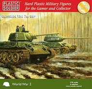Plastic Soldier  1/72 WWII Russian T34 76/85 Tank (3) PSO7204