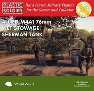 Plastic Soldier  1/72 WWII Allied M4A1 76mm Wet Stowage Sherman Tank (3) PSO7209