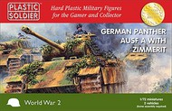 Plastic Soldier  1/72 WWII German Panther Ausf A Tank w/Zimmerit (2) PSO7219