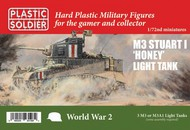 Plastic Soldier  1/72 WWII Allied M3 Stuart I Honey Light Tank (3) (New Tool) PSO7241
