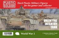Plastic Soldier  1/72 WWII Valentine Infantry Tank (3) & Crew (9) PSO7243