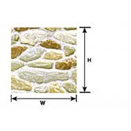 Plastruct  G Field Stone Plastic Pattern Sheet (2) PLA91564