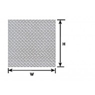 Plastruct  HO Diamond Plate (2) PLA91687