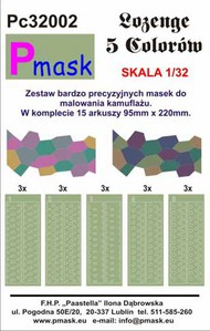 Upper and lower paint masks for the German WWI 5 colour Lozenge pattern #PC32002