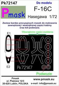 Lockheed-Martin F-16C Fighting Falcon Masks #PK72147