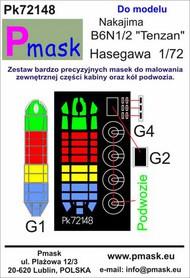 Nakajima B6N1/2 'Tenzan' Masks #PK72148