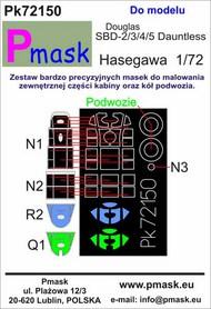 Douglas SBD-2/SBD-3/SBD-4/SBD-5 Dauntless Masks #PK72150