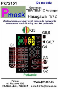 Grumman TBF/TBM-1C Avenger Masks #PK72151