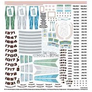 Polar Lights  1/1000 Star Trek Starship Supplemental Decal Set PLLMKA2