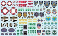 Polar Lights  1/25 NYC Auxiliary Service Logos Decal Set PLLMKA34