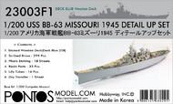 Pontos Model Wood Deck  1/200 USS Missouri BB63 1945 Blue Tone Deck & Detail Set for TSM PON230031