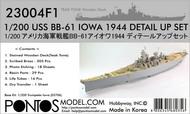 Pontos Model Wood Deck  1/200 Detail Up Set - USS Iowa BB-61 1944 withTeak Tone Wood Deck (TRP kit) PON230041