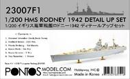 Pontos Model Wood Deck  1/200 HMS Rodney 1942 Detail Set for TSM PON230071