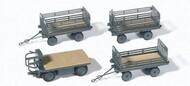 Railway Cargo Vehicle w/3 Trailers #PRZ17126