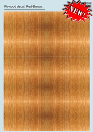 Print Scale Decals  1/48 1/48-1/72 Plywood Red-Brown Part 2 PSL032