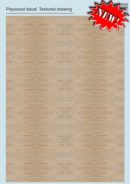 Print Scale Decals  1/48 1/48-1/72 Plywood Textured drawing Part 3 PSL033
