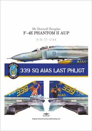 339 Sqn AIAS LAST PHLIGHT represent a Greek McDonnell F-4E Phantom II #PD72-902