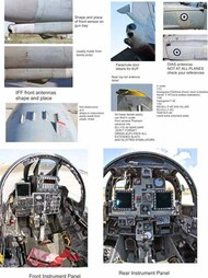 McDonnell F-4E Phantom II AUP ROUNDELS NUMBERS AND SQ SPECIAL MARKINGS #PD72-905