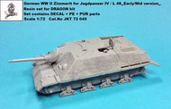 German WWII Zimmerit for Jagdpanzer IV L/48 Early/Mid Version #JKT72045