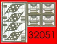 ProfiModeller  1/32 Wheel chocks x 4 Warsaw Pact era PF32051P