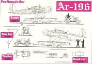 ProfiModeller  1/32 Arado Ar.196A-3 aircraft carriage/buggy for use alone or with 32062P PF32061P