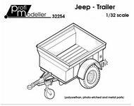 ProfiModeller  1/32 Jeep Trailer PF32254P