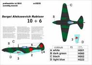 Mikoyan MiG-3 S.A.Rubtsov Decals #PF32332P