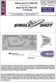 Q-M-T  1/18 Single Shot Standard canopy mask for FW 190A- QMTM18001