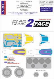 Q-M-T  1/18 Face 2 Face Paint masks Canopy Double sided f QMTM18002