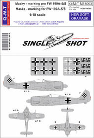 Q-M-T  1/18 Single Shot Standard Marking masks for Fw.190 QMTM18003