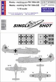 Q-M-T  1/18 Single Shot Standard Marking masks for FW 190 QMTM18003