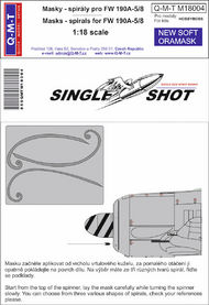 Q-M-T  1/18 Single Shot Standard Marking masks Spirals fo QMTM18004