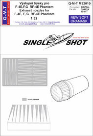 Q-M-T  1/32 Single Shot Exhaust nozzles Paint masks for M QMTM32010