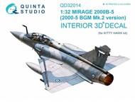 Quinta Studio  1/32 Dassault Mirage 2000B-5 (2000-5BGM Mk2) 3D-Printed & coloured Interior on decal paper - Pre-Order Item QTSQD32014