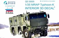 Quinta Studio  1/35 MRAP Typhoon-K 6X6 Armoured Vehicle 3D-Printed & coloured Interior on decal paper QTSQD35005