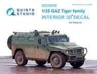 Quinta Studio  1/35 GAZ Tiger family 3D-Printed & coloured Interior on decal paper QTSQD35009