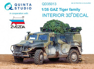 Quinta Studio  1/35 GAZ Tiger family 3D-Printed & coloured Interior on decal paper QTSQD35013
