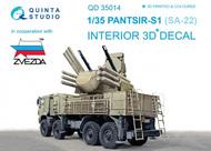 Quinta Studio  1/35 Pantsir-S1 (SA-22 Greyhound) 3D-Printed & coloured Interior on decal paper QTSQD35014
